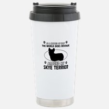 Skye Terrier dog funny designs Travel Mug