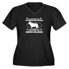 Swedish Vallhund dog funny designs Women's Plus Si