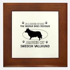 Swedish Vallhund dog funny designs Framed Tile
