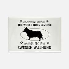 Swedish Vallhund dog funny designs Rectangle Magne