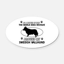 Swedish Vallhund dog funny designs Oval Car Magnet