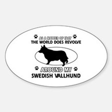 Swedish Vallhund dog funny designs Decal