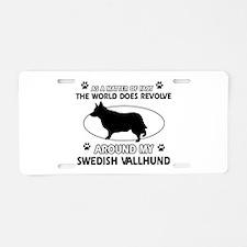 Swedish Vallhund dog funny designs Aluminum Licens