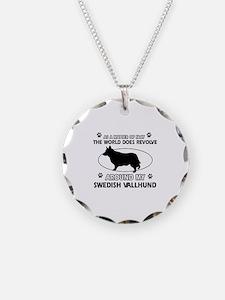 Swedish Vallhund dog funny designs Necklace