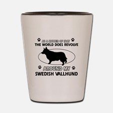 Swedish Vallhund dog funny designs Shot Glass