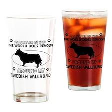 Swedish Vallhund dog funny designs Drinking Glass