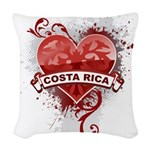 Heart Costa Rica Woven Throw Pillow