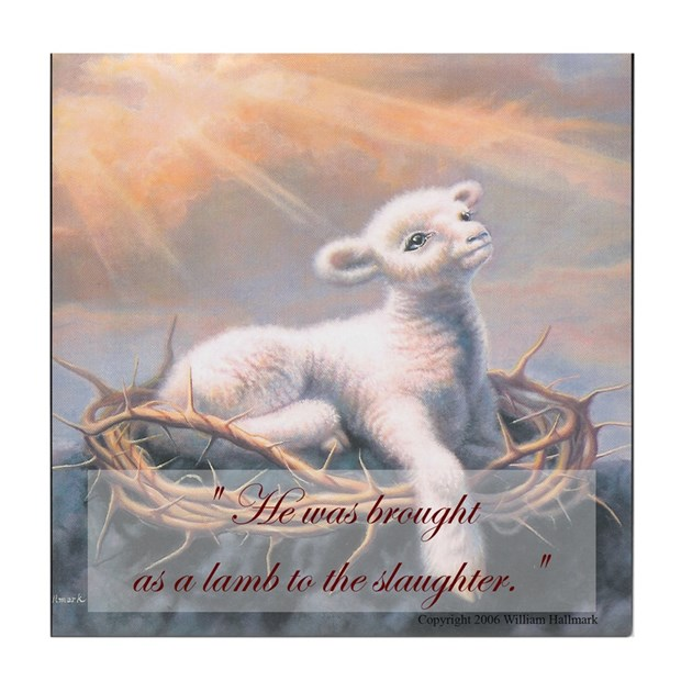 """Behold the Lamb of God"" Fine Art Tile Coaster by ..."