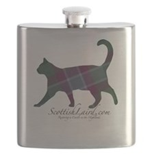 The Dunans Tartan Cat Flask