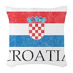 Vintage Croatia Woven Throw Pillow