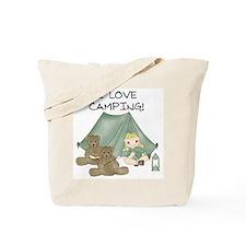 I Love Camping (Girl) Tote Bag