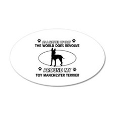 Toy Manchester Terrier dog funny designs Wall Decal
