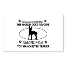 Toy Manchester Terrier dog funny designs Decal