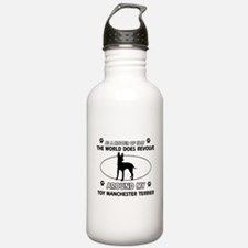Toy Manchester Terrier dog funny designs Water Bottle