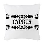 Tribal Cyprus Woven Throw Pillow
