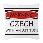 Attitude Czech Woven Throw Pillow