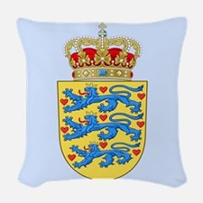 Denmark Coat Of Arms Woven Throw Pillow
