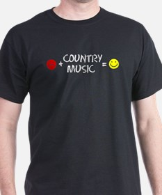 Plus Country Music Equals Happy T-Shirt