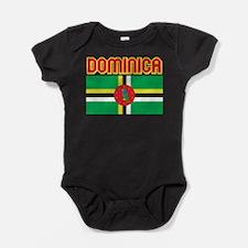 Dominica Flag Baby Bodysuit