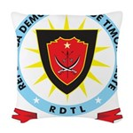 East Timor Coat Of Arms Woven Throw Pillow