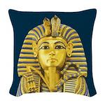 Tutankhamun Woven Throw Pillow