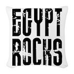 Egypt Rocks Woven Throw Pillow