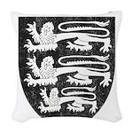 Vintage England Woven Throw Pillow