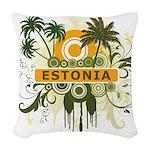 Palm Tree Estonia Woven Throw Pillow