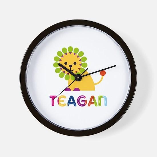 Teagan Loves Lions Wall Clock