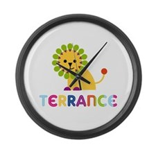 Terrance Loves Lions Large Wall Clock