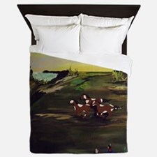 Native American Horses Queen Duvet
