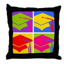Pop Art Grad Throw Pillow