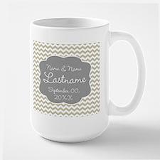 Chevrons for a Wedding - beige Mug
