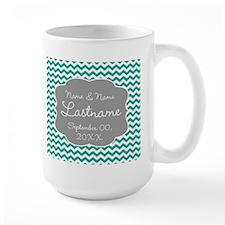 Chevrons for a Wedding - teal Mug