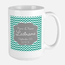 Chevrons for a Wedding - teal Mug