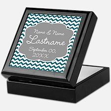Wedding or Anniversary Chevrons Keepsake Box