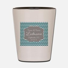 Wedding or Anniversary Chevrons Shot Glass