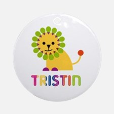 Tristin Loves Lions Ornament (Round)