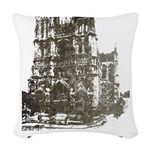 Vintage France Woven Throw Pillow