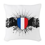 France Woven Throw Pillow