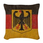 Vintage Germany Flag Woven Throw Pillow