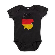 3D Map Of Germany Baby Bodysuit