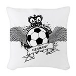 Germany Football Woven Throw Pillow