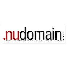 .NU Domain Bumper Bumper Sticker