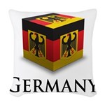 Cube Germany Woven Throw Pillow