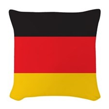 Germany Flag Woven Throw Pillow