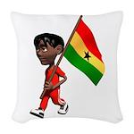 3D Ghana Woven Throw Pillow