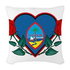 Heart Guam Woven Throw Pillow