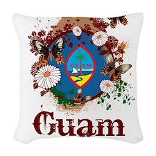 Butterfly Guam Woven Throw Pillow