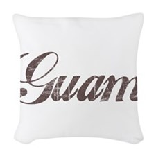Vintage Guam Woven Throw Pillow